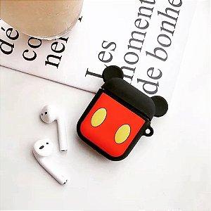 Case Mickey Mouse com fone sem fio bluetooth