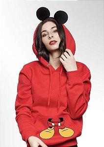 Moletom Mickey Mouse elementos orelhinhas