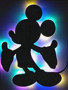 Luminária Mickey Mouse colorida