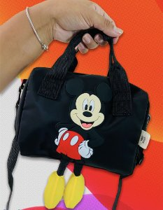 Bolsa Mickey Mouse pezinho Disney preta