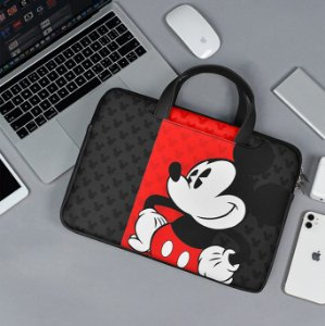 Maleta notebook mickey mouse preta e vermelha 13/14/15 polegadas