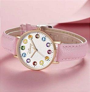 Relógio Mickey Mouse disney cuties rosa