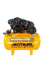 Compressor  15 PÉS 3HP 150 litros - 140Lb monof. MOTOMIL