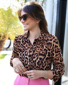 Camisa Animal Print Doce Flor