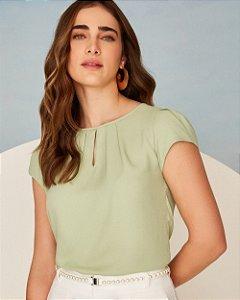 Blusa Básica Gota Unique Chic -Verde