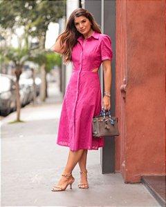 Vestido Midi Laise Pink Donna Ritz