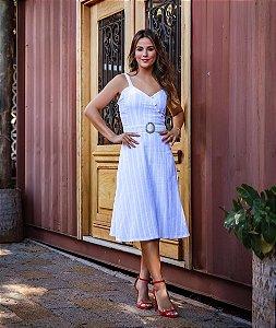Vestido Midi Alça Fina Branco