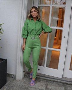 Calça Alfaiataria Clochard Verde