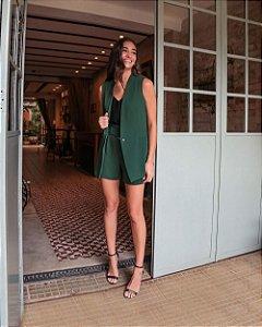 Colete Alfaiataria Boyfriend Donna Ritz - Verde