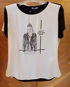 T-Shirt Bordada Dont Stop Me Now