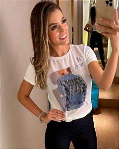 T-Shirt Bordada Jaqueta Drip