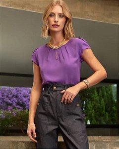 Blusa Básica Gota Unique Chic - Violeta