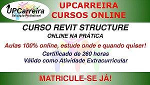 Curso Revit Structure Online na Prática - Formação em Software p/ Projeto Estrutural com Certificado