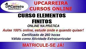 Curso Elementos Finitos Online na Prática - Formação Completa em Análise e Simulação Estrutural c/ Certificado