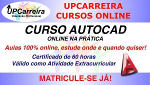 Curso de Autocad 2D na Prática Online Especialização  com Certificado 60h