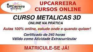 Curso Metálicas 3D Online na Prática - Especialização em Software de Cálculo de Estruturas Metálicas com Certificado 240h