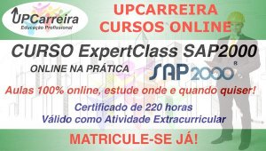 Curso ExpertClass SAP2000 Online  - Especialização em Software de Análise Estrutural com Certificado 220h