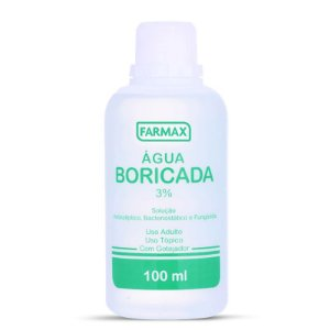 Água Boricada 3% com 100mL Farmax
