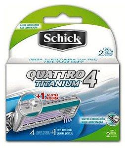 Cartucho Schick Quattro Titanium com 2 unidades