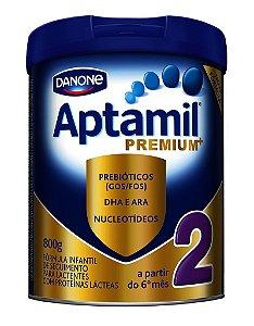 Aptamil Premium 2 Danone com 800g (A partir do 6º mês)