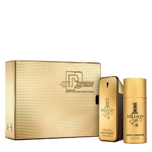 Kit 1 Million Paco Rabanne Masculino Eau de Toilette 100ml + Desodorante 150ml