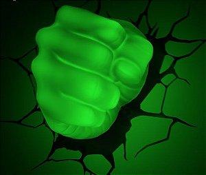 Luminária LED 3D Light Punho do Hulk