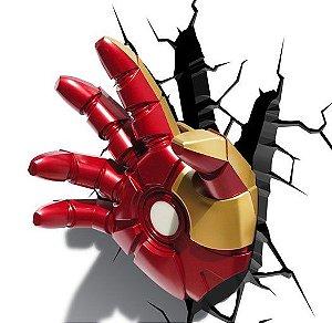Luminária Mão do Homem de Ferro 3D LED