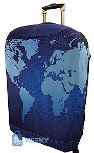 KEEKY Mapa Mundi Azul