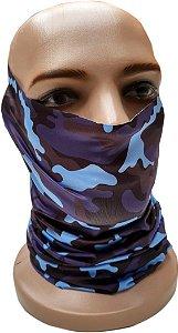 Bandana Tubular Camuflada Azul