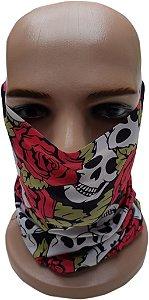Bandana Tubular Skull Roses