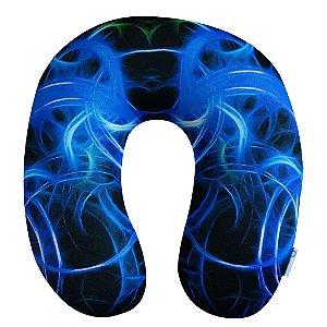 Almofada de Pescoço Aros de Fogo Azul