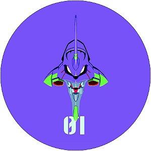 Painel Redondo Personalizado Evangelion 01