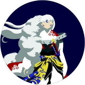 Painel Redondo Personalizado Inuyasha
