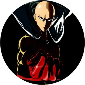 Painel Redondo Personalizado One Punch Man