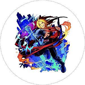Painel Redondo Personalizado Fullmetal Alchemist