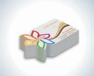 1.000 unidades de cartão de visita 4x0 cores - corte especial