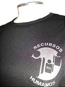 Camiseta de Recursos Humanos Preta com Prata