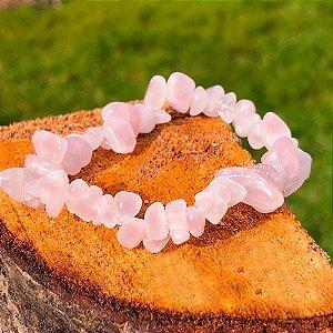 Pulseira de Quartzo Rosa Cascalho (Coleção Amor Próprio) - Pedras Naturais