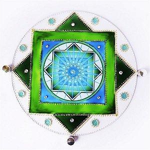 Quadro  dos Sonhos em Vidro (Quadro Mandala - com Fita Dupla Face 3M)