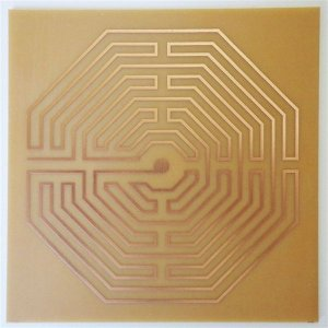 Placa Labirinto D'Amiens - Gráfico em Cobre