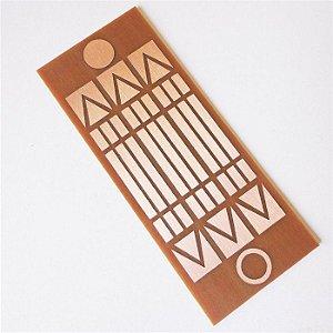 Placa Luxor - Gráfico em Cobre 6 x 15cm