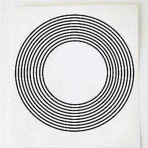 Adesivo Radionico 9 círculos GR 3 pçs