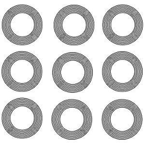 Adesivo Radionico 9 círculos PQ 9 pçs