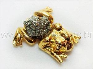 Amuleto Sapinho da Sorte com pirita