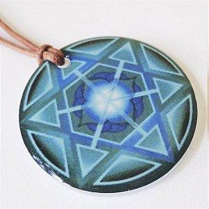 Colar Mandala da Saúde em Acrilico