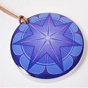 Colar Mandala Prosperidade em Acrílico