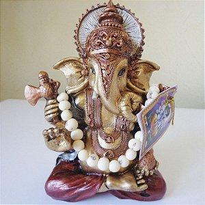 Estátua de Ganesha da Sabedoria com Japamala