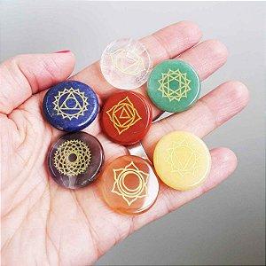 Kit Pedras das Mandalas dos Chakras