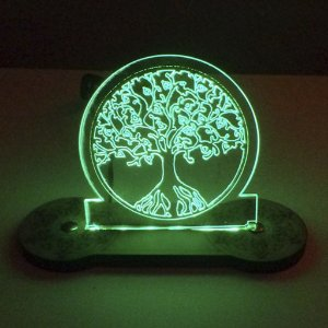 Luminária Árvore da Vida de Led Verde