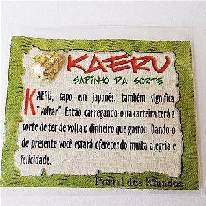 Mini amuleto sapinho Kaeru